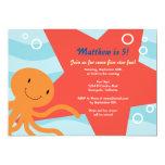 """Underwater Party Invite 5"""" X 7"""" Invitation Card"""