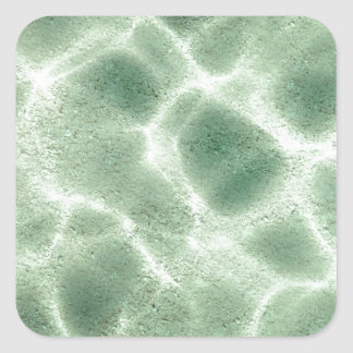 underwater pattern square sticker