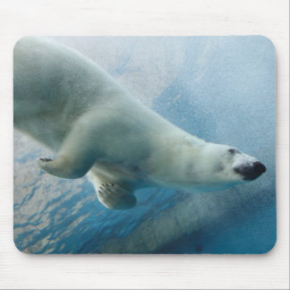 Underwater photo of a Polar Bear Mouse Pad