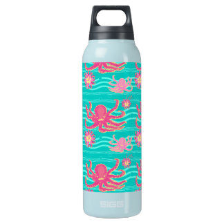 Underwater Pink Octopus Pattern Liberty Bottle