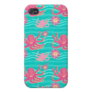 Underwater Pink Octopus Pattern Speck Case Cases For iPhone 4