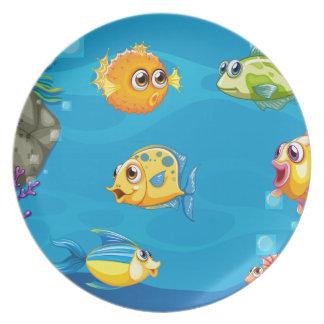 Underwater Dinner Plates
