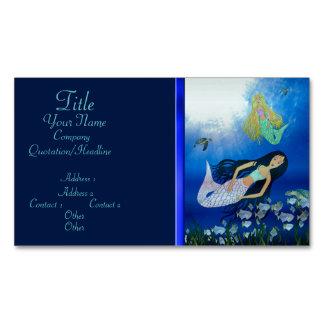 Underwater Play (Mermaid) Magnetic Business Card