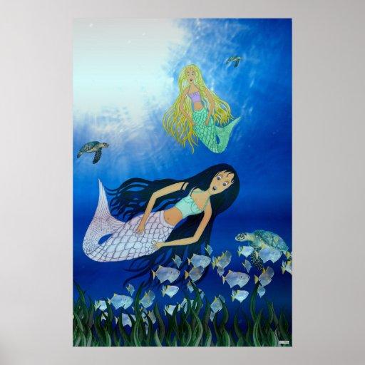 Underwater Play (Mermaid) Print