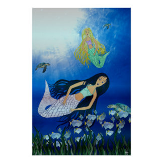 Underwater Play (Mermaid) Print