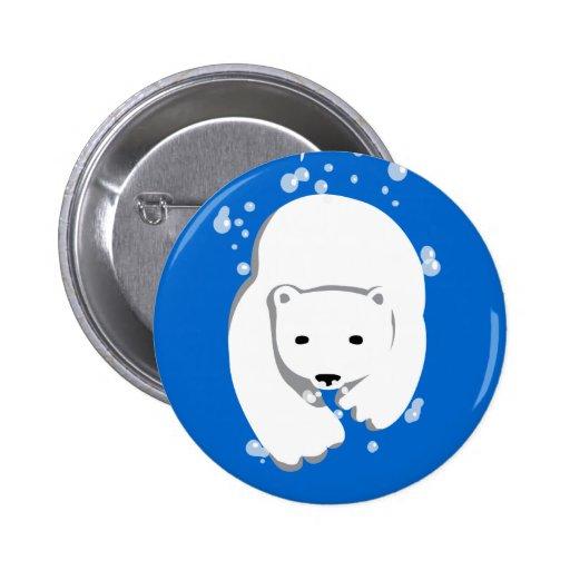 Underwater Polar Bear 2 Inch Round Button