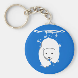 Underwater Polar Bear Keychain
