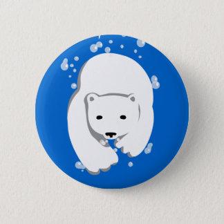 Underwater Polar Bear Pinback Button