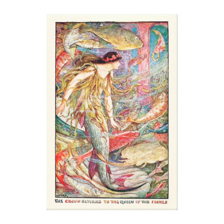 Underwater Queen of the Fishes Canvas Print