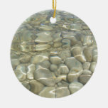 Underwater Rocks Double-Sided Ceramic Round Christmas Ornament