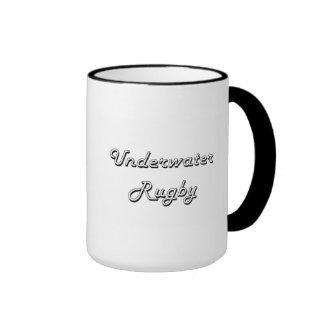 Underwater Rugby Classic Retro Design Ringer Coffee Mug