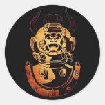 Underwater Samurai Stickers