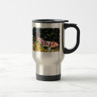 Underwater Sanke Koi 15 Oz Stainless Steel Travel Mug