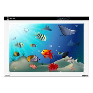 """Underwater scene 17"""" laptop skin"""