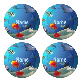 Underwater scene button covers
