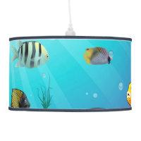 Underwater scene ceiling lamp