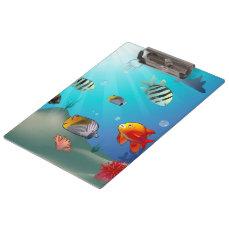 Underwater scene clipboard