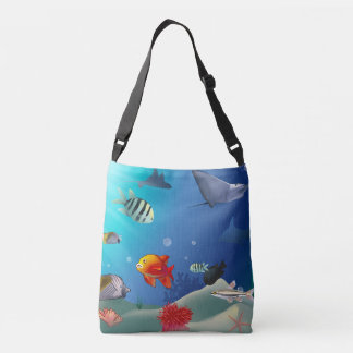 Underwater Scene Crossbody Bag