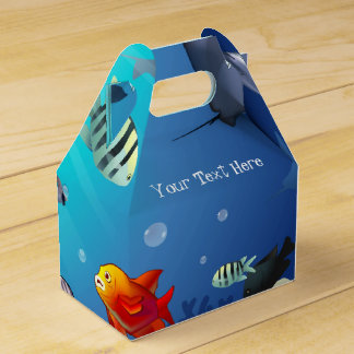 Underwater scene favor box