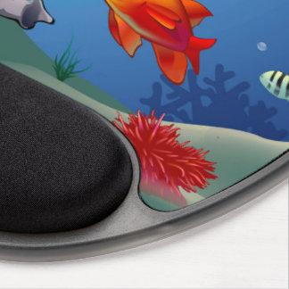 Underwater scene gel mouse pad