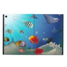 Underwater scene iPad air covers