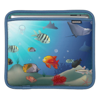 Underwater scene sleeves for iPads