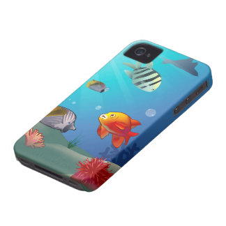 Underwater scene iPhone 4 case