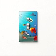 Underwater scene light switch cover