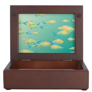 Underwater scene memory box