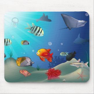 Underwater scene mouse pad