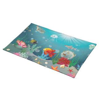 Underwater scene placemat
