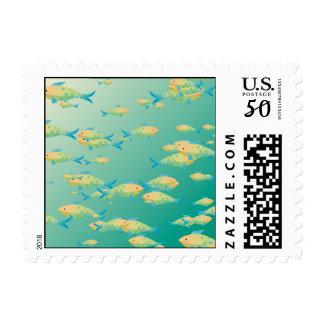 Underwater scene postage