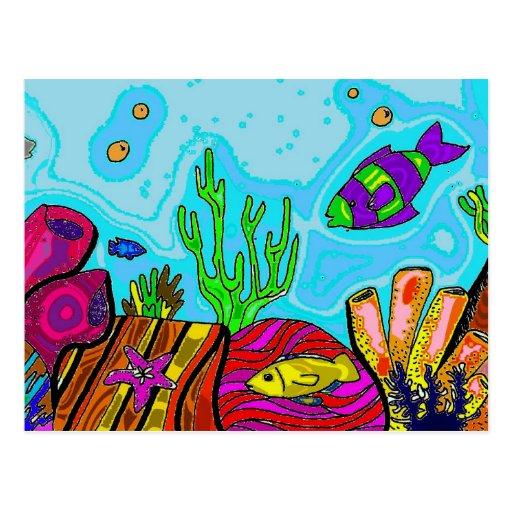 Underwater Scene Postcard