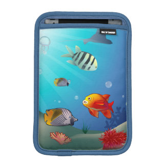Underwater scene sleeve for iPad mini