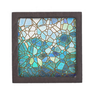Underwater scene stained glass gift box