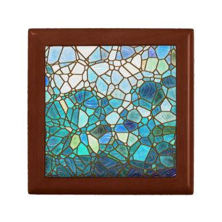 Underwater scene stained glass keepsake box