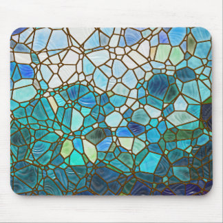 Underwater scene stained glass mouse pad