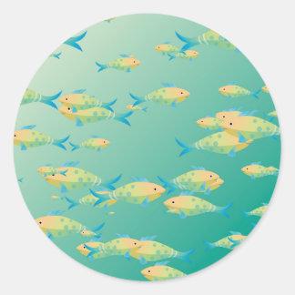 Underwater scene sticker