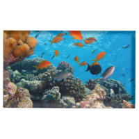 Underwater Scene Table Card Holder