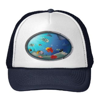 Underwater Scene Trucker Hat