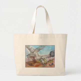 Underwater Scene with Shells. Canvas Bag