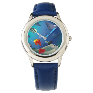 Underwater scene wristwatches