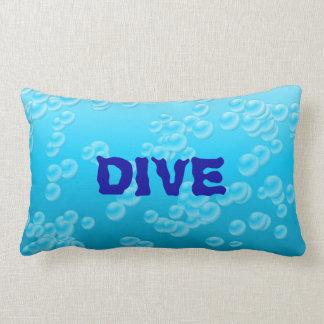 Underwater Sea Bubbles Scuba Diver Optional Word Throw Pillows