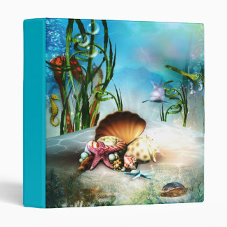 Underwater Sea Life Binder