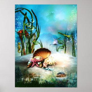 Underwater Sea Life Poster