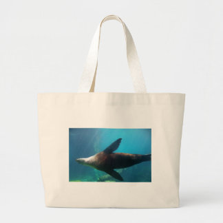 Underwater Sea Lion Large Tote Bag