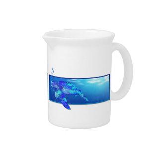 Underwater Sea Turtle Beverage Pitcher