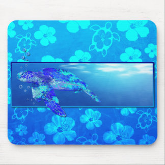 Underwater Sea Turtle Mouse Pad