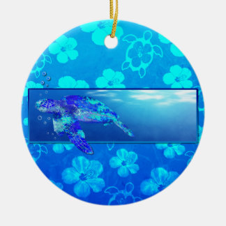 Underwater Sea Turtle Christmas Ornaments