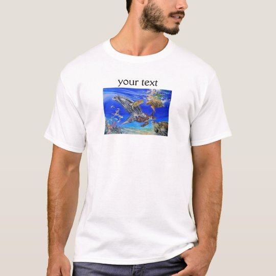 Underwater Sea Turtles Art Endangered Species T-Shirt